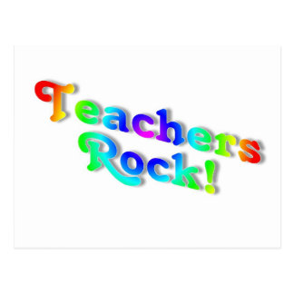 Teachers Rock Color Postcard