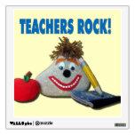 Teachers Rock! Cute Wall Decal