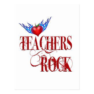 Teachers Rock Flames Postcard