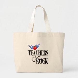 Teachers Rock Large Tote Bag