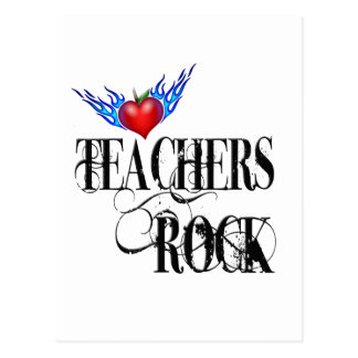 Teachers Rock Postcard