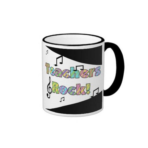 Teachers Rock Ringer Coffee Mug
