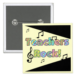 Teachers Rock Tshirts and Gifts Pinback Button