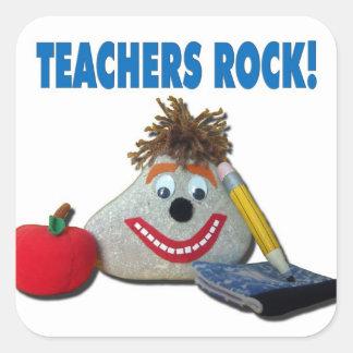 Teachers Rock! White Sticker