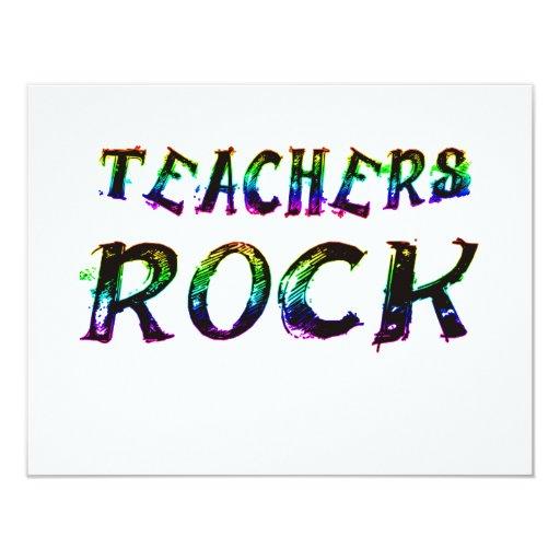 "TEACHERS ROCK WITH COLOR 4.25"" X 5.5"" INVITATION CARD"