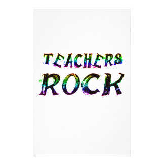 TEACHERS ROCK WITH COLOR STATIONERY
