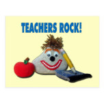 Teachers Rock! Yellow Postcard