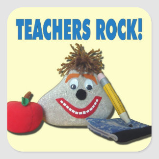 Teachers Rock! Yellow Sticker