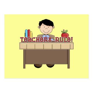 Teachers Rule - Male Tshirts and Gifts Postcard