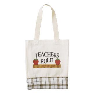 Teachers Rule Zazzle HEART Tote Bag