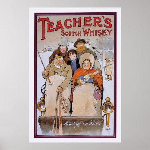 Teachers Scotch Whisky Poster