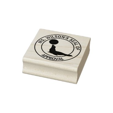 Teacher's Seal of Approval Rubber Stamp