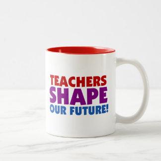Teachers Shape Our Future Two-Tone Coffee Mug