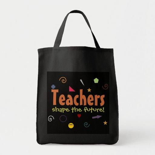 Teachers shape the future tote bag