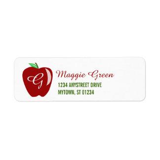 Teacher's Shiny Apple Label