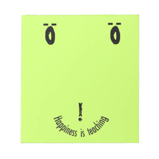 Teacher's  Smiley Note Face Design Notepad