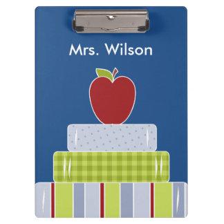 Teacher's Stack of Books Custom Clipboard