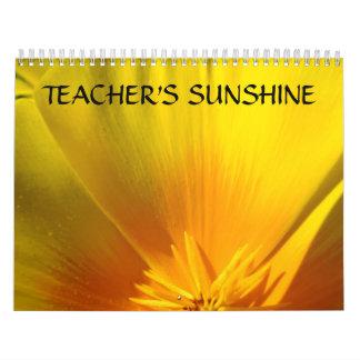 TEACHERS SUNSHINE Calendar Gift Floral Gardens