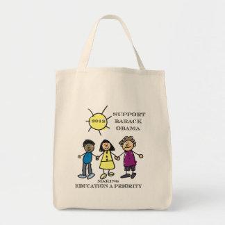 Teachers Support Barack Obama tote Bag