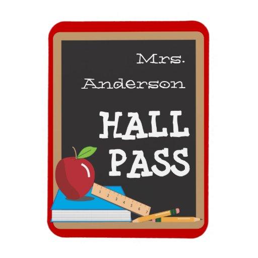 classroom hall pass