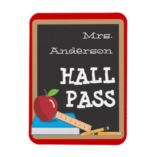 Teachers Tools Blackboard & Apple Hall Pass Magnet