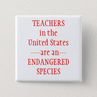 Teachers United States Pinback Button