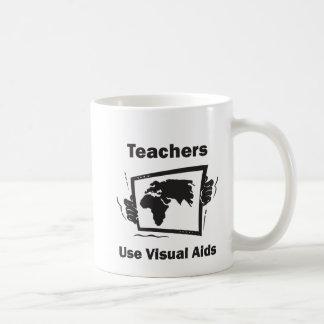 Teachers Use Visual Aids Classic White Coffee Mug