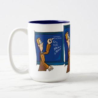Teachers voting for Obama Two-Tone Coffee Mug