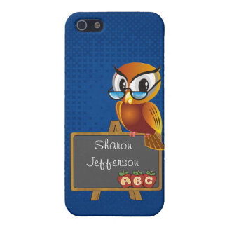 Teacher's Wise Owl Custom iPhone 5 Case
