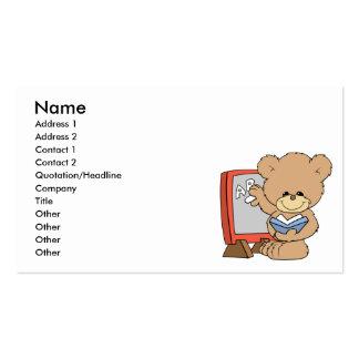 teaching ABCs cute teacher teddy bear design Business Cards