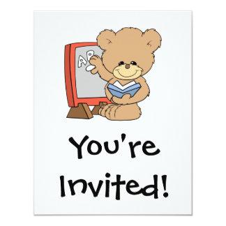 teaching ABCs cute teacher teddy bear design Card