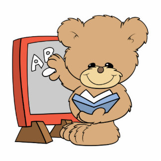 teaching ABCs cute teacher teddy bear design Cutout