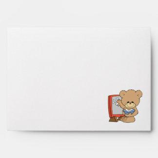 teaching ABCs cute teacher teddy bear design Envelope