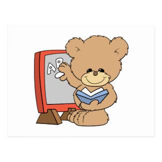 teaching ABCs cute teacher teddy bear design Post Cards