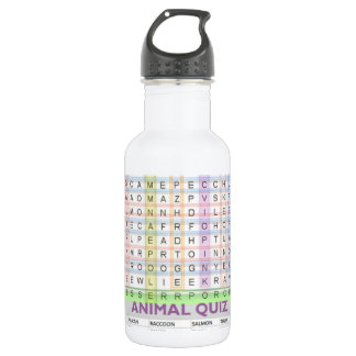 Teaching Aids : Learn Alphabets n Animal Names 18oz Water Bottle