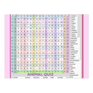 Teaching Aids : Learn Alphabets n Animal Names Postcard