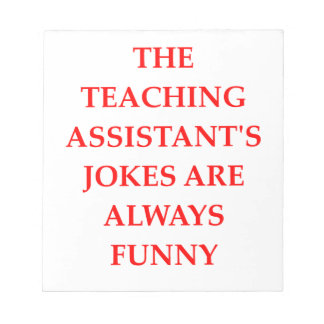teaching assistent note pad