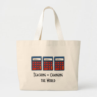 Teaching = Changing the World Canvas Bags