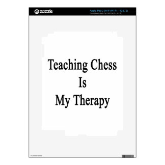 Teaching Chess Is My Therapy iPad 3 Decals