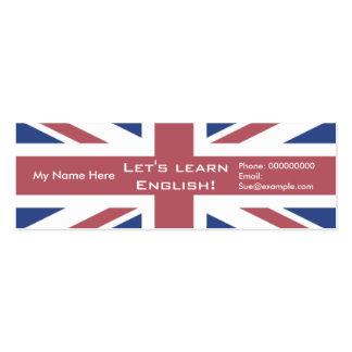 Teaching English Language -- Advertising Cards Business Card Template