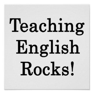 Teaching English Rocks Poster