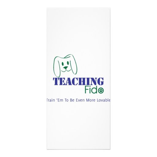 Teaching Fido Logo Wear Full Color Rack Card