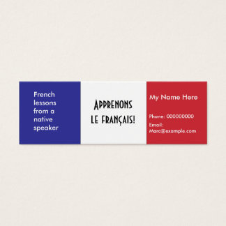 Teaching French Language -- Advertising Cards