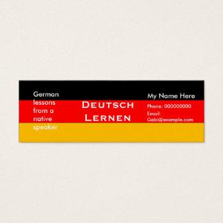 Teaching German Language -- Advertising Cards