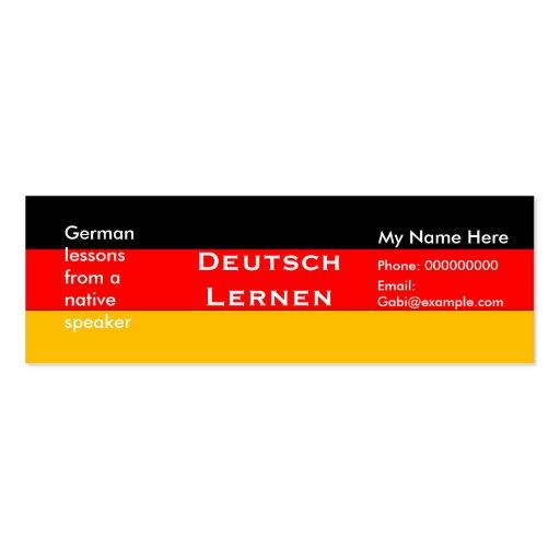 Teaching German Language -- Advertising Cards Business Cards