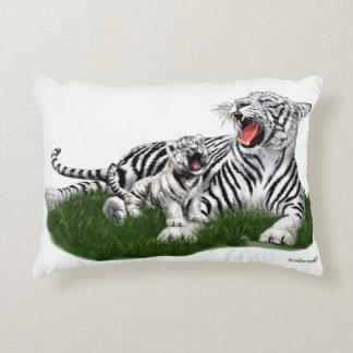 Teaching Her Cub to Roar Decorative Pillow