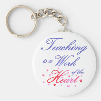 Teaching is a Work of Heart Basic Round Button Keychain