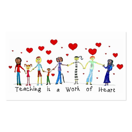 Teaching is a Work of Heart Info Cards