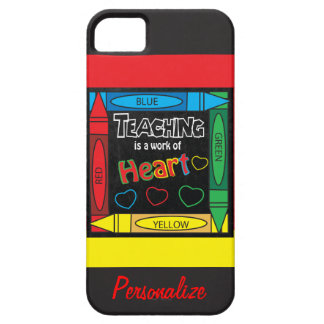 Teaching is a work of heART iPhone SE/5/5s Case