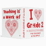 Teaching is a Work of Heart - Personalized Binder